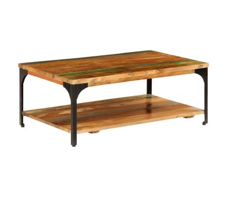"vidaXL Coffee Table with Shelf 39.4""x23.6""x13.8"" Solid Reclaimed Wood"