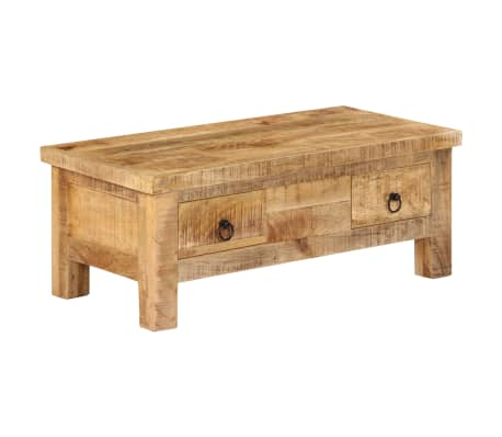 vidaXL Coffee Table 90x45x35 cm Solid Mango Wood
