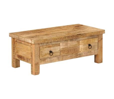 vidaXL Kavos staliukas, 90x45x35 cm, mango medienos masyvas[12/13]