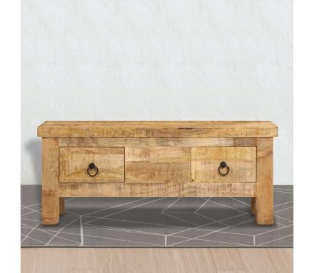 vidaXL Kavos staliukas, 90x45x35 cm, mango medienos masyvas[8/13]