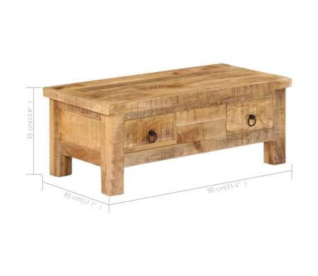 vidaXL Kavos staliukas, 90x45x35 cm, mango medienos masyvas[9/13]
