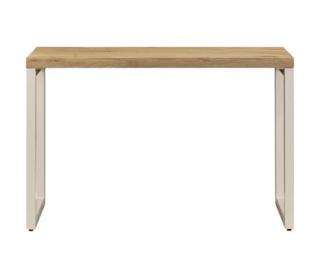 "vidaXL Dining Table 45.3""x21.7""x30"" Solid Mango Wood and Steel[3/13]"