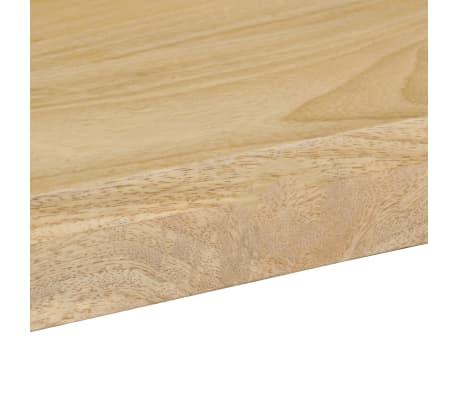 "vidaXL Dining Table 45.3""x21.7""x30"" Solid Mango Wood and Steel[7/13]"