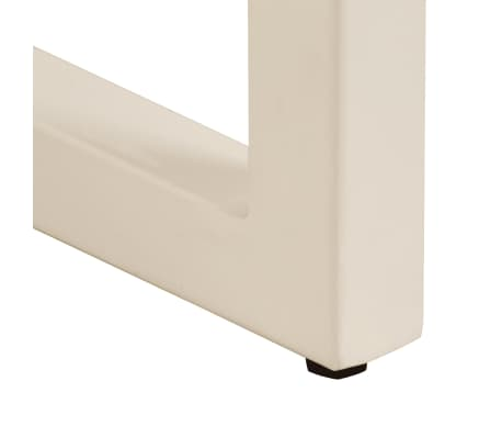 "vidaXL Dining Table 45.3""x21.7""x30"" Solid Mango Wood and Steel[9/13]"