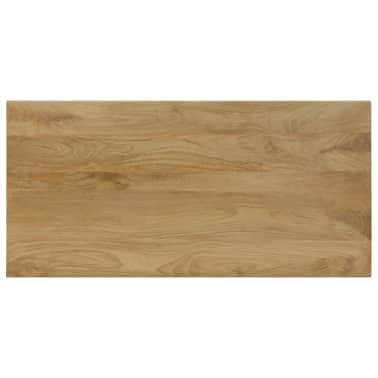 "vidaXL Dining Table 45.3""x21.7""x30"" Solid Mango Wood and Steel[4/13]"
