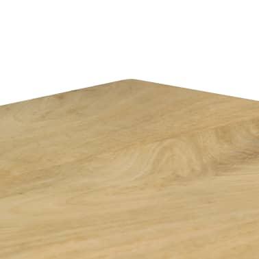 "vidaXL Dining Table 45.3""x21.7""x30"" Solid Mango Wood and Steel[6/13]"