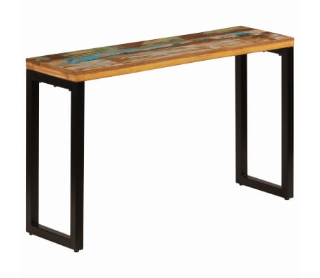 "vidaXL Console Table 47.2""x13.8""x29.9"" Solid Reclaimed Wood and Steel[1/11]"