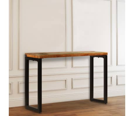 "vidaXL Console Table 47.2""x13.8""x29.9"" Solid Reclaimed Wood and Steel[2/11]"
