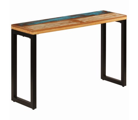 "vidaXL Console Table 47.2""x13.8""x29.9"" Solid Reclaimed Wood and Steel[11/11]"