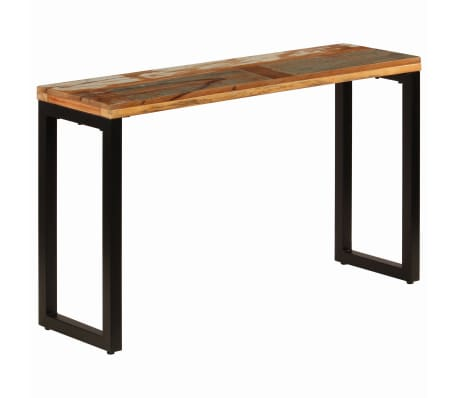 "vidaXL Console Table 47.2""x13.8""x29.9"" Solid Reclaimed Wood and Steel[10/11]"