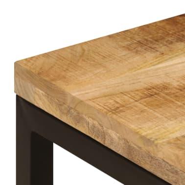 vidaXL Kavos staliukas, 110x50x35cm, mango med. mas. ir plienas[6/14]