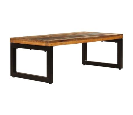 vidaXL Kavos staliukas, 100x50x35cm, perdirbt. mango mas. ir plienas[2/13]