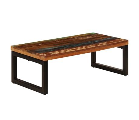 vidaXL Kavos staliukas, 100x50x35cm, perdirbt. mango mas. ir plienas[12/13]
