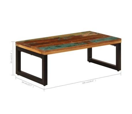 vidaXL Kavos staliukas, 100x50x35cm, perdirbt. mango mas. ir plienas[8/13]