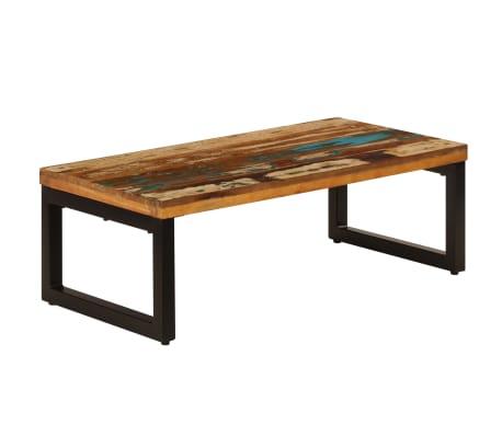 vidaXL Kavos staliukas, 100x50x35cm, perdirbt. mango mas. ir plienas[9/13]