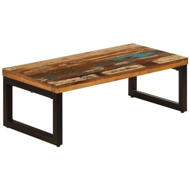vidaXL Kavos staliukas, 100x50x35cm, perdirbt. mango mas. ir plienas[13/13]