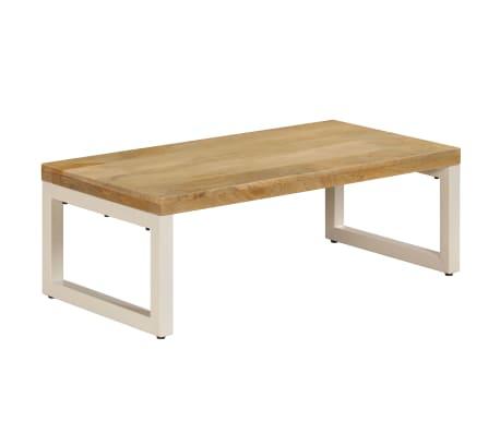 vidaXL Coffee Table 110x50x35 cm Solid Mango Wood and Steel