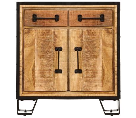 """vidaXL Sideboard 25.6""""x11.8""""x27.6"""" Solid Mango Wood[3/14]"""