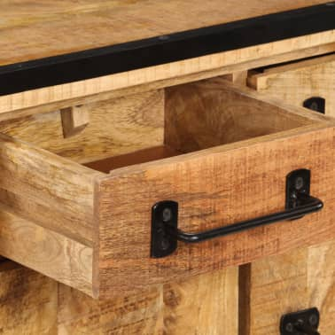"""vidaXL Sideboard 25.6""""x11.8""""x27.6"""" Solid Mango Wood[8/14]"""