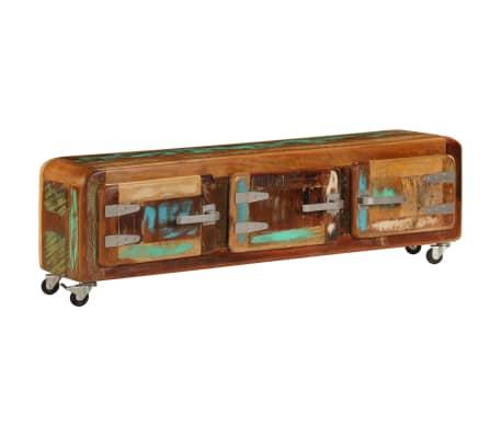 "vidaXL TV Cabinet 47.2""x11.8""x14.6"" Solid Reclaimed Wood"