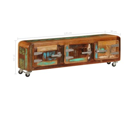 "vidaXL TV Cabinet 47.2""x11.8""x14.6"" Solid Reclaimed Wood[9/14]"