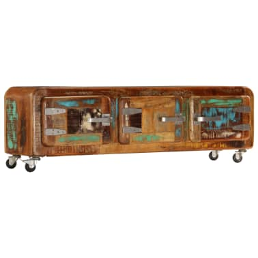 "vidaXL TV Cabinet 47.2""x11.8""x14.6"" Solid Reclaimed Wood[11/14]"