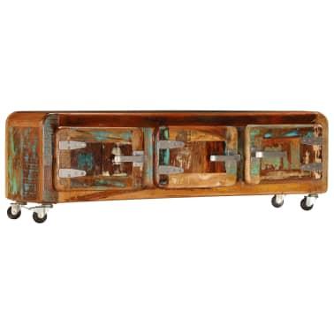 "vidaXL TV Cabinet 47.2""x11.8""x14.6"" Solid Reclaimed Wood[13/14]"