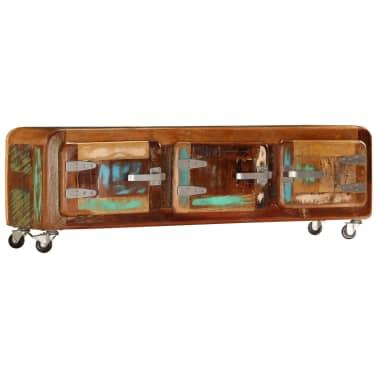"vidaXL TV Cabinet 47.2""x11.8""x14.6"" Solid Reclaimed Wood[14/14]"