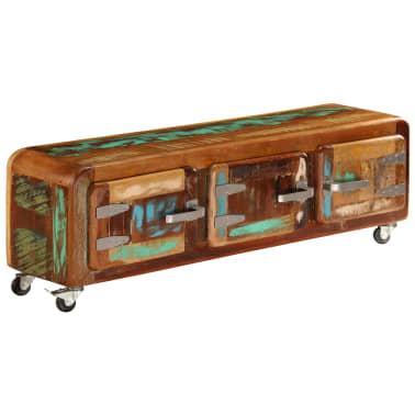 "vidaXL TV Cabinet 47.2""x11.8""x14.6"" Solid Reclaimed Wood[3/14]"