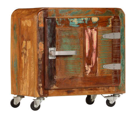 vidaXL Sängbord 50x30x50 cm massivt återvunnet trä