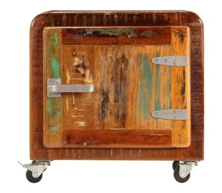 vidaXL Naktinė spintelė, 50x30x50 cm, perdirbtos medienos masyvas[2/14]