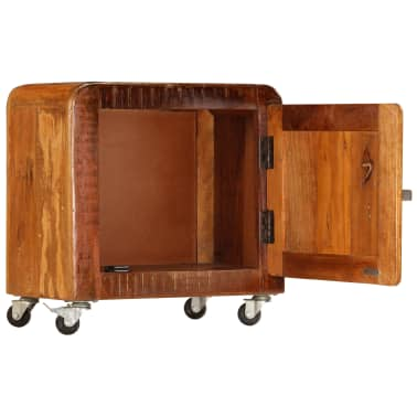 vidaXL Naktinė spintelė, 50x30x50 cm, perdirbtos medienos masyvas[4/14]