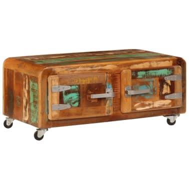 vidaXL Kavos staliukas, 85x55x40cm, perdirbtos medienos masyvas[1/14]