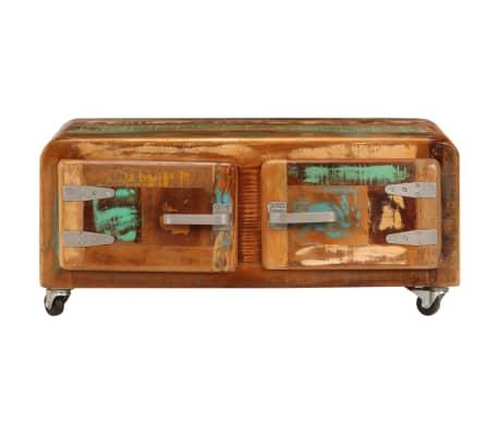 vidaXL Kavos staliukas, 85x55x40cm, perdirbtos medienos masyvas[2/14]