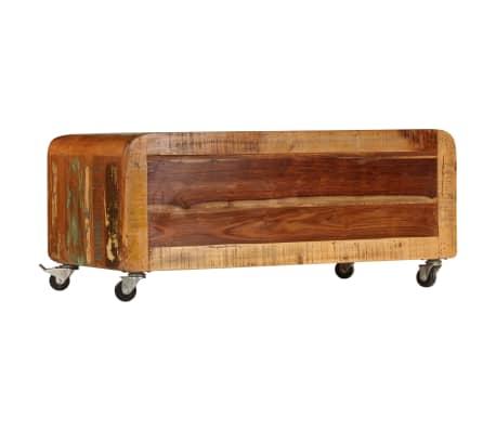 vidaXL Kavos staliukas, 85x55x40cm, perdirbtos medienos masyvas[3/14]