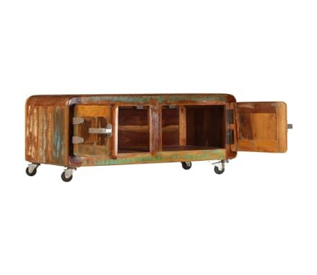 vidaXL Kavos staliukas, 85x55x40cm, perdirbtos medienos masyvas[4/14]