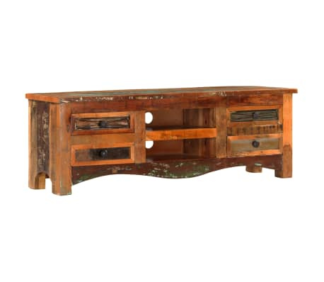"vidaXL TV Cabinet 47.2""x11.8""x15.7"" Solid Reclaimed Wood[11/14]"