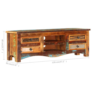 "vidaXL TV Cabinet 47.2""x11.8""x15.7"" Solid Reclaimed Wood[9/14]"