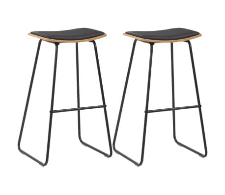 vidaXL Barové stoličky 2 ks, čierne, umelá koža