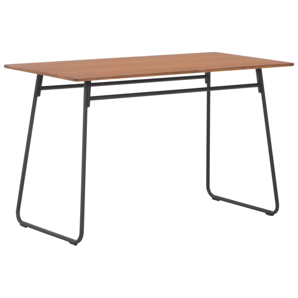 Jídelní stůl 120 x 60 x 73 cm masivní překližka a ocel