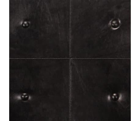 vidaXL Dvivietė sofa, juodos spalvos, tikra oda[7/8]