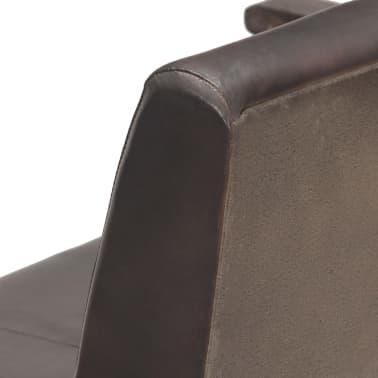 vidaXL Kavč dvosed siv iz pravega usnja[5/11]