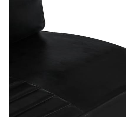 vidaXL Sofa 2-osobowa, czarna, skóra naturalna[5/8]