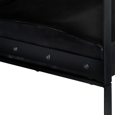 vidaXL Sofá de 2 plazas cuero auténtico negro[4/8]