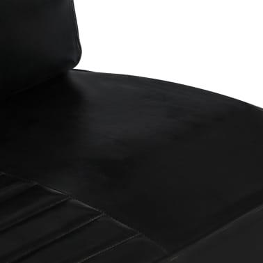 vidaXL Sofá de 2 plazas cuero auténtico negro[5/8]