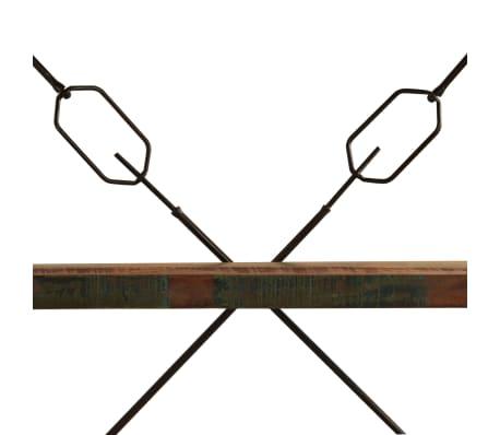 vidaXL bogreol i 5 niveauer massivt genanvendt træ 140x30x180 cm[8/15]