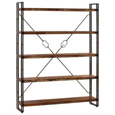 vidaXL Regał na książki, 5 półek, 140x30x180 cm, lite drewno z odzysku[13/15]