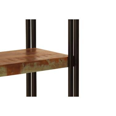 vidaXL Regał na książki, 5 półek, 140x30x180 cm, lite drewno z odzysku[7/15]