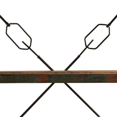 vidaXL Regał na książki, 5 półek, 140x30x180 cm, lite drewno z odzysku[8/15]