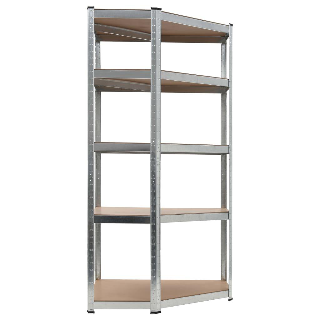 999144264 Lagerregal Silbern 90 x 90 x 180 cm Stahl und MDF